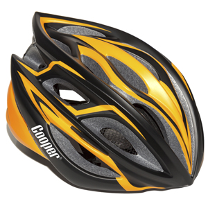 Cycling Helmet Matt Black/Orange